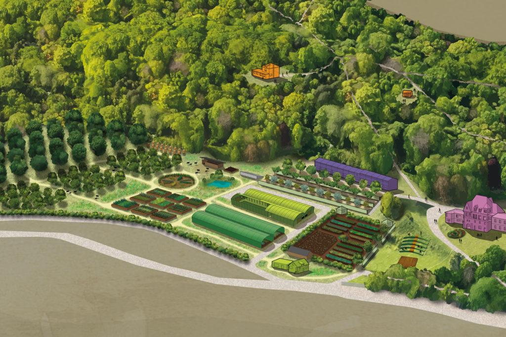 Schéma des espaces agricoles HERMITAGE